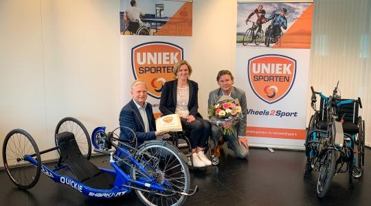Welzorg Nederland WMO John Naborn Wheel2 sport Fonds Gehandicaptensport Nike Boor Monique Kalkman John Naborn