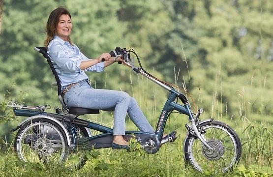 Driewieler-voor-mensen-met-evenwichtsproblemen Welzorg Private lease aangepaste fiets