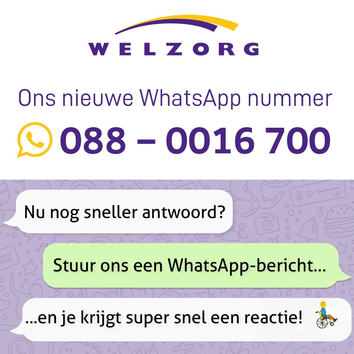 Ons nieuwe WhatsApp-nummer