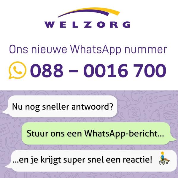 Nieuw WhatsApp nummer Welzorg
