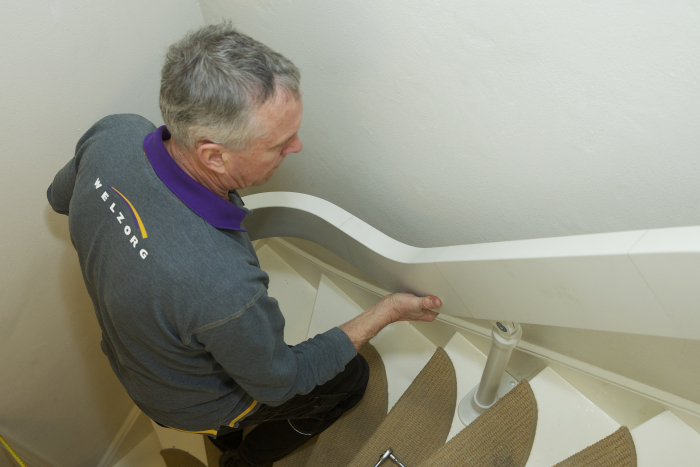 Nieuwe trap aanpassen