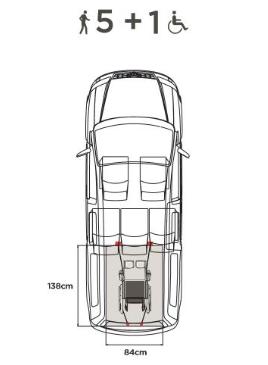 afmetingen zonnebloemauto Volkswagen Caddy