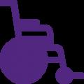 Elektrische rolstoel buiten