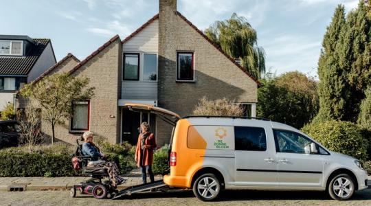 Zonnebloemauto beschikbaarheid