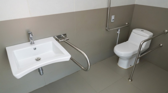 Toiletbeugel vast
